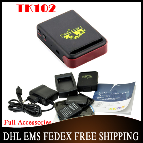 DHL OR EMS 50pcs/lot GPS Tracker Baby Tracker TK102 TK102B, Mini Global Real Time GSM/GPRS/GPS Car Tracking Device(China (Mainland))