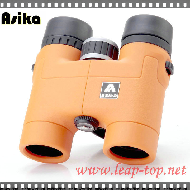 Free shipping promotion ! Fashion! Wide-Angle Central Focus Orange Asika 8x32 Outdoors Sports Binoculars(China (Mainland))