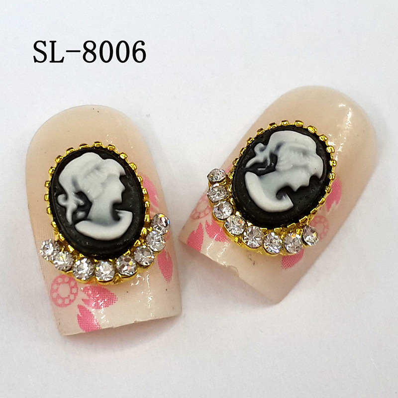 ... new nail designs beauty picture nail art deco alloy 3d nails SL-8006
