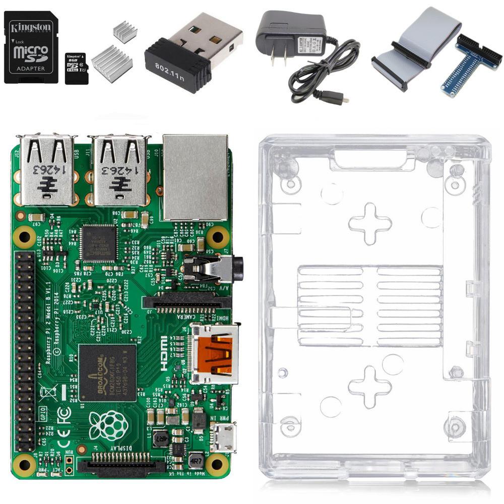 Raspberry Pi 3 Model B Complete Starter Kit — Raspberry Pi 3 Model B / transparent case / 2.5A Power supply / Wifi Adapter