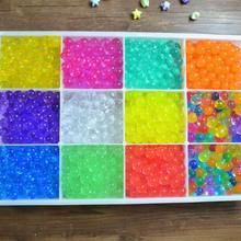 5 bags (500pcs)Crystal Soil Hydrogel Gel Polymer Water Beads Flower/Wedding/Decoration Maison Growing Water Balls Big Home Decor(China (Mainland))