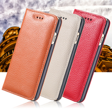 For Iphone 5s Leather Case Luxury Vintage Lychee Pattern Leather Case For Iphone 5 5s 5g Flip Wallet Phone Cases Crad Slot Cover(China (Mainland))