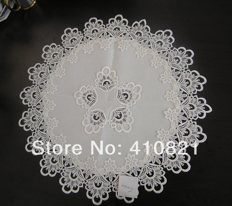 off white ROUND lace tablecloth for home decor dining table decor 60cmx60cm(China (Mainland))