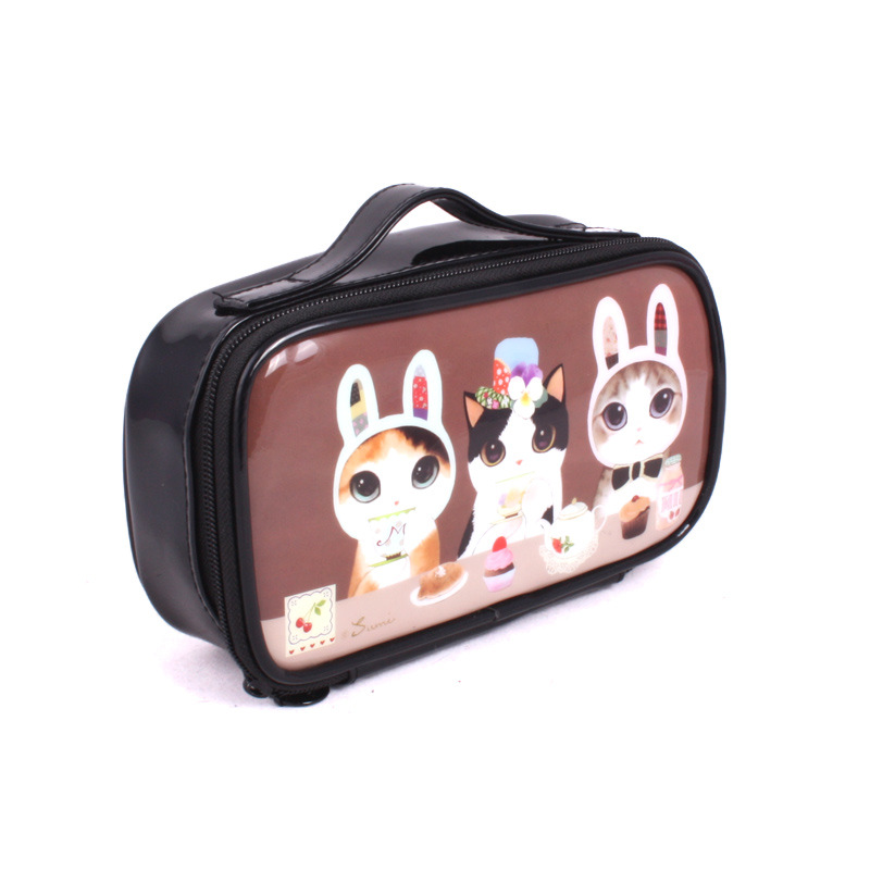 Women famous brand woemn waterproof cosmetic case luxury make organizer bag casual toiletry pouch clutch purse boutique VIP gift(China (Mainland))