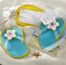 "Free shipping 20pcs/lot Wedding favors ""Flip-Flop"" Beach-Themed Luggage Tag IN TWO TYPE(China (Mainland))"