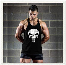 Bodybuilding Men's Tops Coloured Fitness Gyms Clothing Tank Tops Undershirts Cotton Sleeveless Vest