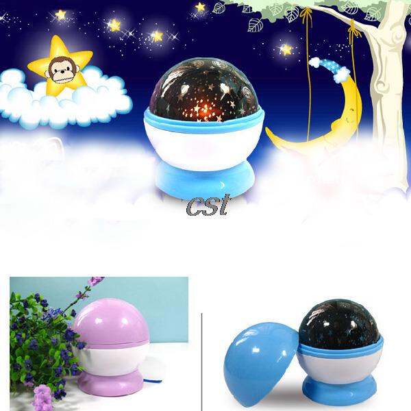 Wholesale Beautiful LED Auto Rotating Dreamlike Luminous Lamp Star Projector Night Light Romantic Birthday Kids Gift(Hong Kong)