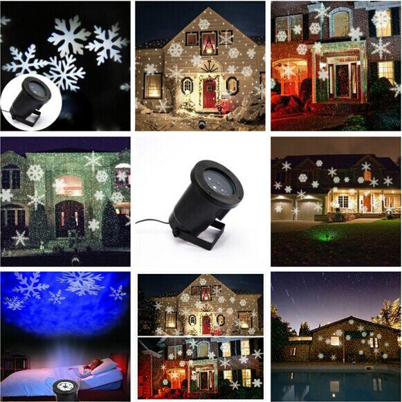 YG waterproof ip65 outdoor christmas laser lights,outdoor christmas white waterproof laser lights snowflake free shipping(China (Mainland))