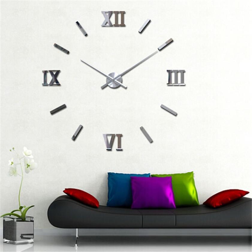 Large office wall clocks promotion achetez des large for Grande horloge murale moderne