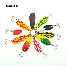 Buy 10PCS Spinners Metal Spoon Jig Bait Fishing Lures Wobblers Lure Artificial Baits Peche Fish Tackle Spinner Hooks Sea Jiging for $3.34 in AliExpress store