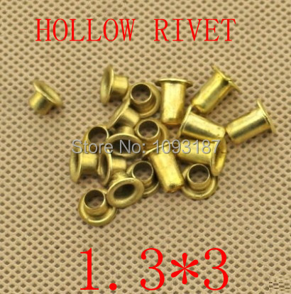 1000pcs /lot   Double-sided circuit board PCB vias nails 1.3*(d)*3(L)mm Brand New Copper Hollow Rivet<br><br>Aliexpress