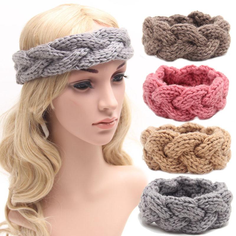 Wholesale Knitted Headband Knit Hair Band Turban Headband Knitted Ear Warmer Women's Winter Headband Crochet Headband Pattern(China (Mainland))