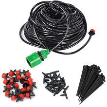 5m/15m/ 25m DIY Micro Drip Irrigation System Plant Automatic Self Watering Garden Hose Kits w Connector+30pcs Adjustable Dripper(China (Mainland))