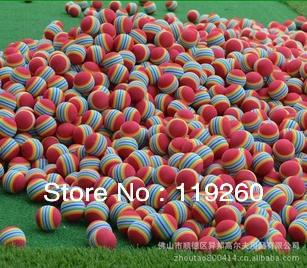 Free Shipping, wholesale indoor golf ball sponge color red ball golf soft ball