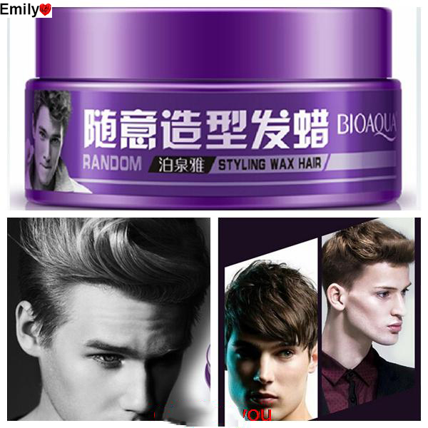 2016 Strong lasting fluffy Wax Hair Styling Moving Rubber Series Casual Matte 100g Travel Size Free Shipping Personal Care(China (Mainland))