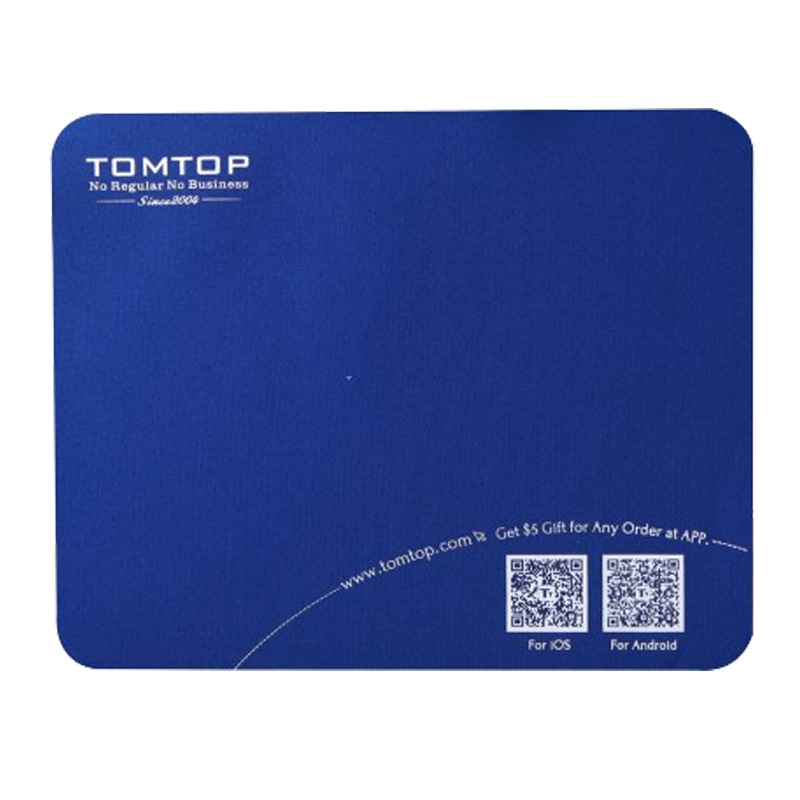 Promotion!!! Super Soft Mouse Pad Mat with TOMTOP Logo Mouse Pads Computer Peripherals Top Quality Wholesale Retail(China (Mainland))