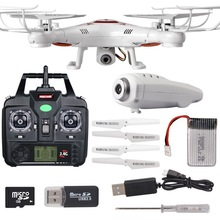 Extra Battery 2.0 MP HD Camera Quadcopter VS X5SC camera drone 2.4G quadrocopter drone Rc helicopter headless mode flying camera(China (Mainland))
