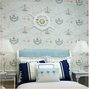Фотография  Vintage Wall paper Floral Wall Paper Roll 10m children boy bedroom wall sticker Decoration/TV backdrop papeles pin