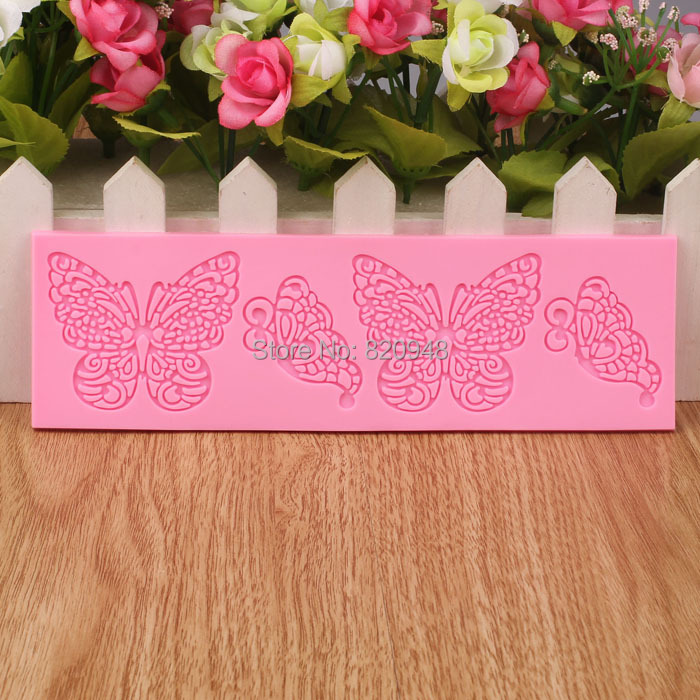Lace Mat 1 PC New Butterfly lace mat Shaped Cake Muffin Chocolates Cupcake Liner Baking Cup Molds Lace Fondant Tool Baking(China (Mainland))