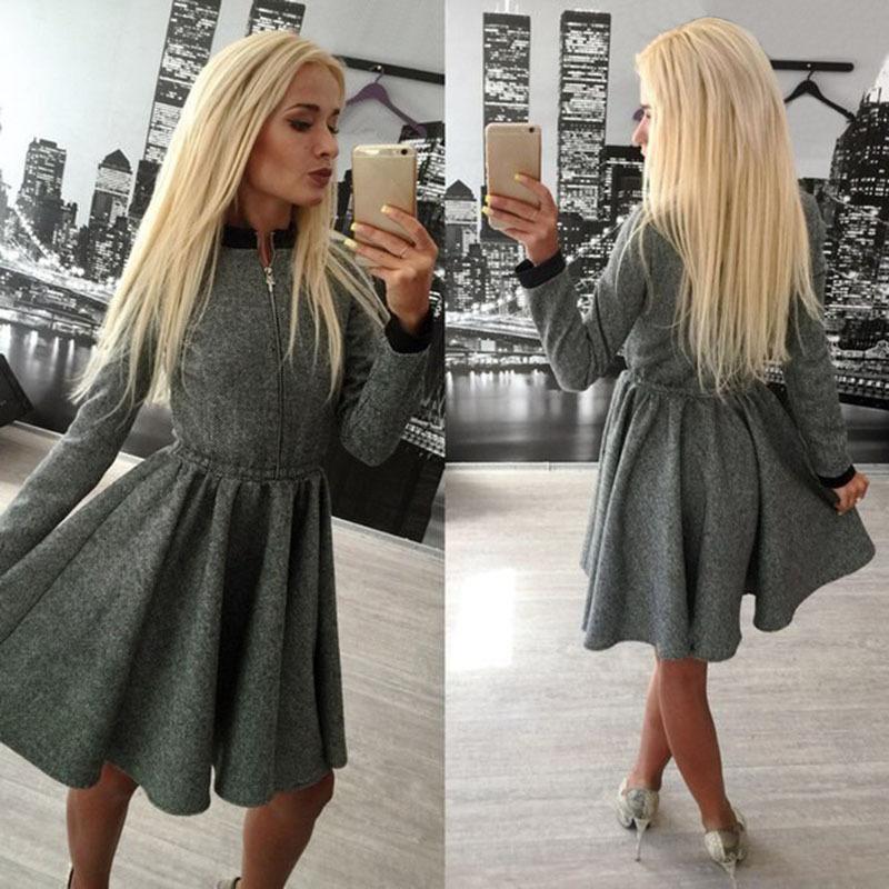 Модные тёплые платья