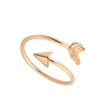 2016 Fashion New Arrival Gold Ring Vintage Jewelry Ring Adjustable Brass Small Arrow Rings for Women wedding Rings(China (Mainland))
