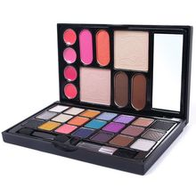 31 Color Wet Shine Eye shadow Blush Lip Gloss Eyebrow Cosmetic Makeup Palette Set De Maquillaje #59668(China (Mainland))