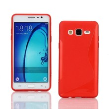 Hot Pink S Line Flexible TPU Protective Soft Case Cover for Samsung Galaxy On5 G5500 Phone Bag Free