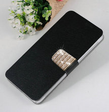 Newest 5 Colors Luxury Elegant PU Leather Mobile Phone Cases Cover For Sony Xperia M4 Aqua  Free Shipping(China (Mainland))