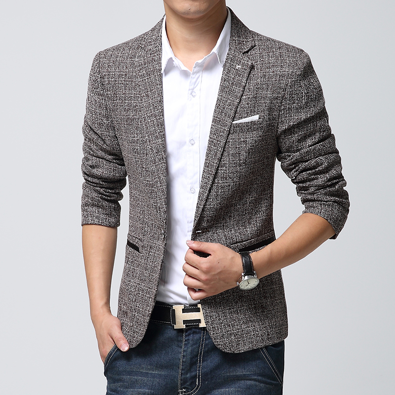 British's Style New Brand Blazer Men Linen Casual Suit ...
