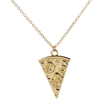 Buy Min 1pc 2016 New Fashion Pendant Necklace Brass Long Chain Pizza Statement Necklace Women Wedding Party Gifts XL190 for $1.41 in AliExpress store