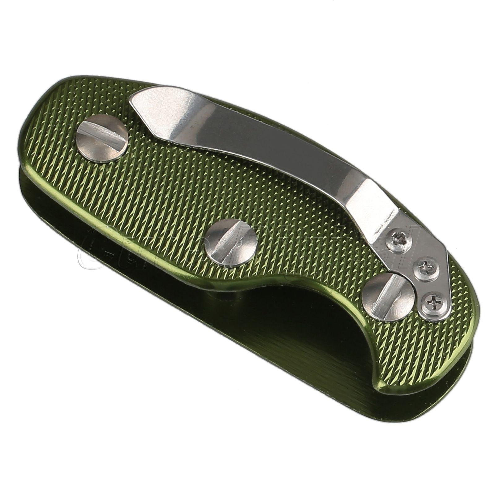 1 шт. EDC черный / зеленый / оранжевый легкий алюминиевый ключ держатель организатор папку клип брелок брелок чехол карманный инструмент