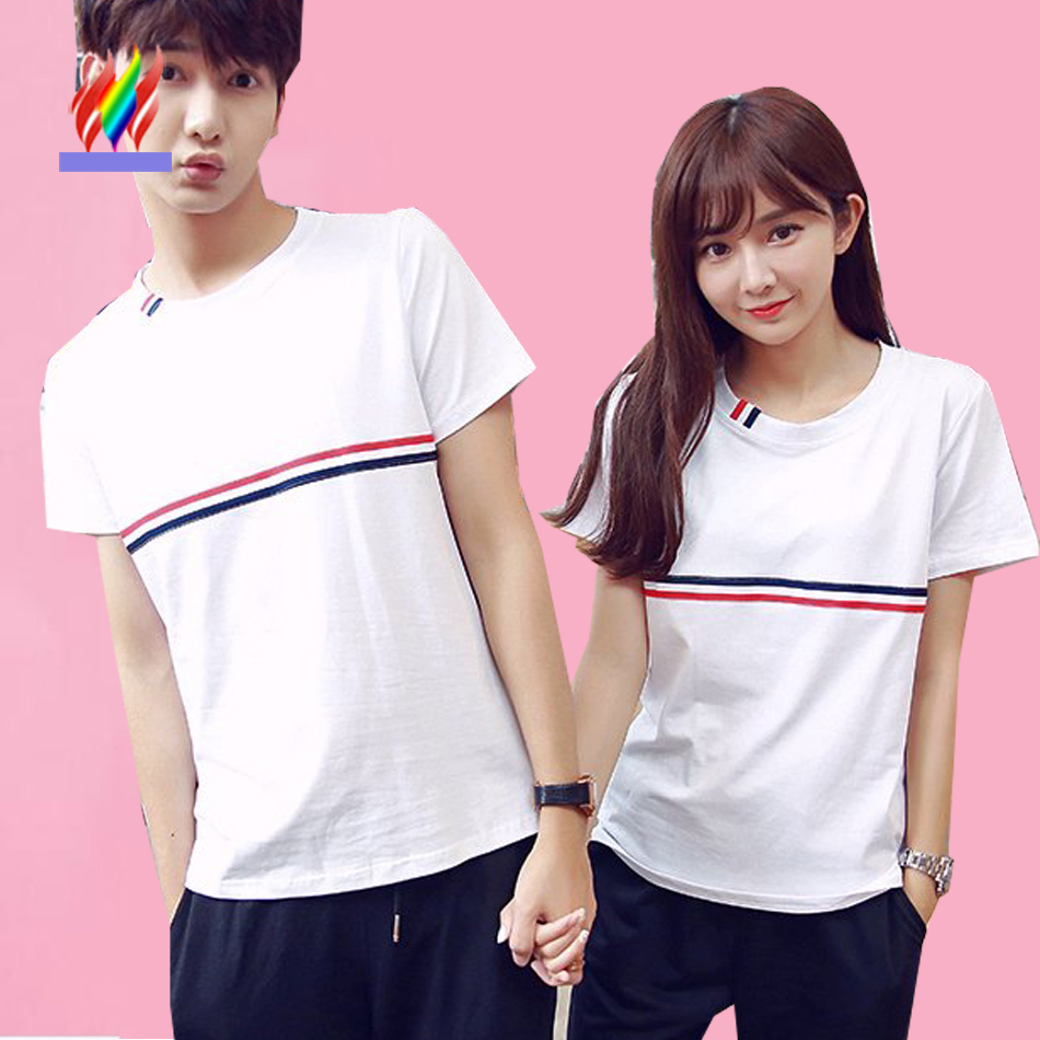 Shirt design for couples - Hot Selling Tops Designer New Arrival Korean Matching Couples Clothes Summer Casual T Shirt Cute