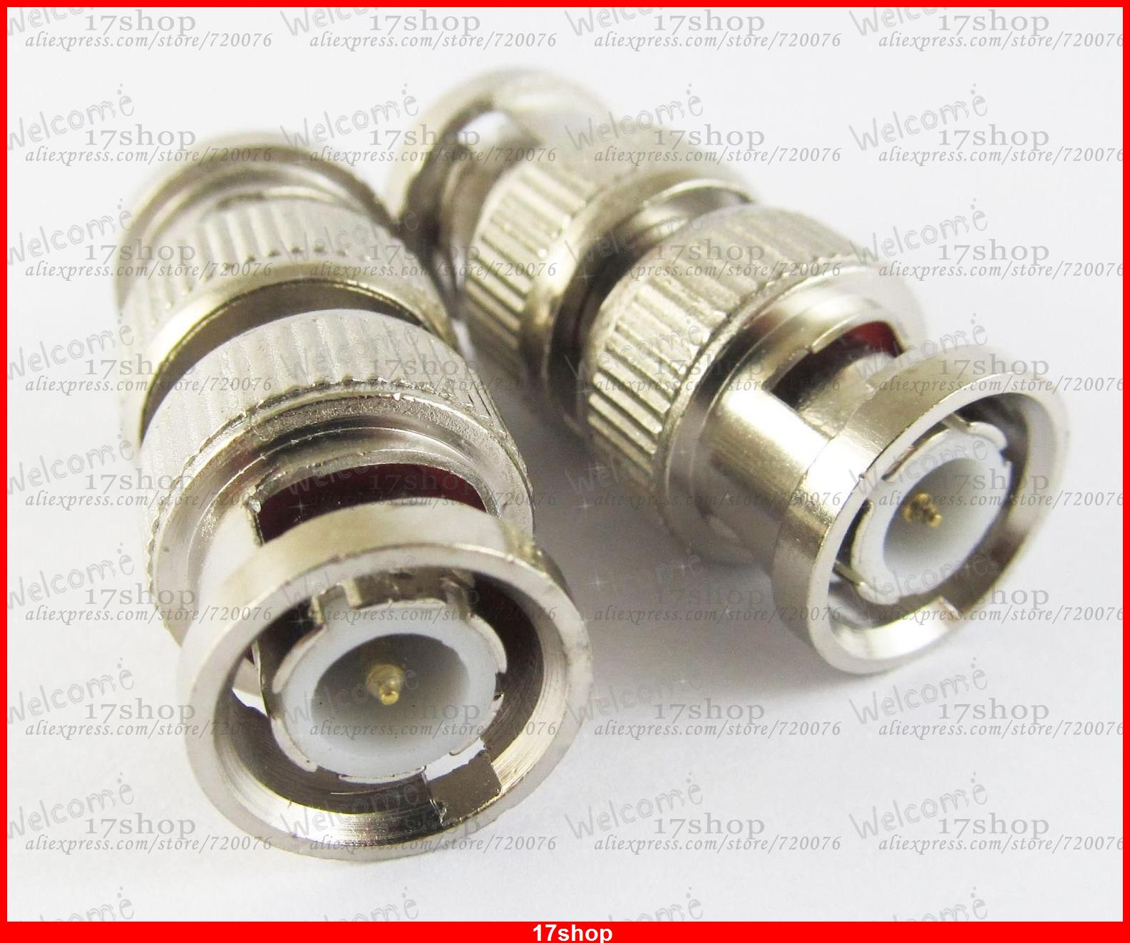 50 pcs x BNC Male Plug to BNC Male Straight Coupler Converter Adapter in series Nickel<br><br>Aliexpress