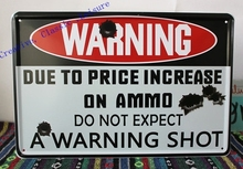 Free shipping DO NOT EXPECT A WARNING SHOT Tin Sign Funny personality Bar pub Wall Decoration Metal Art Poster ,size 30x20cm(China (Mainland))