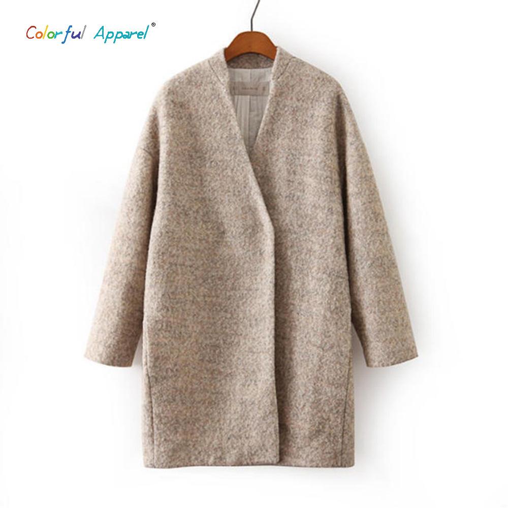 Hotwomen 2015 New Design Fall Winter Fashion Woolen Overcoat Women Clothing Classic Longline