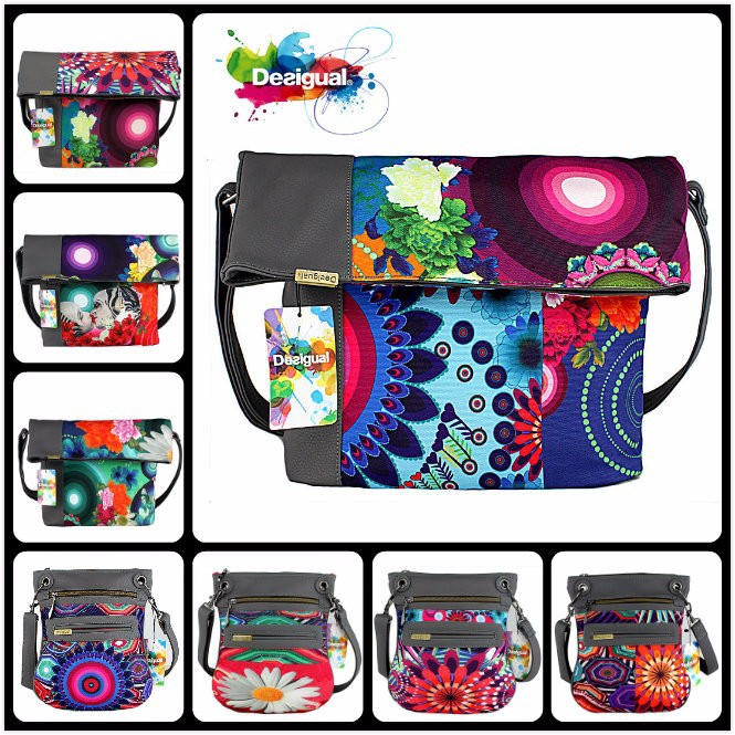 2015 New Fashion spain Brand Desigual bag Handbag Leather Shoulder Bags Women Messenger Bags Travel Bags Tote spain wallet(China (Mainland))