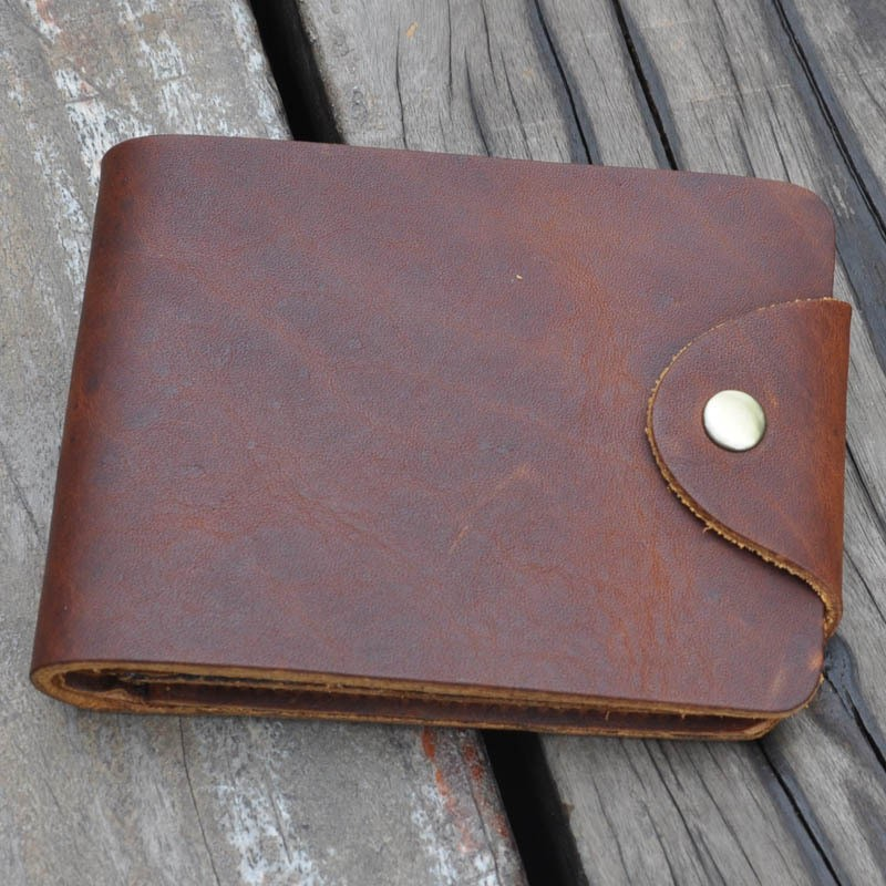 Genuine Leather Wallets Real Purse Vintage Cowhide wallet clasp - Eyes Of Fury store