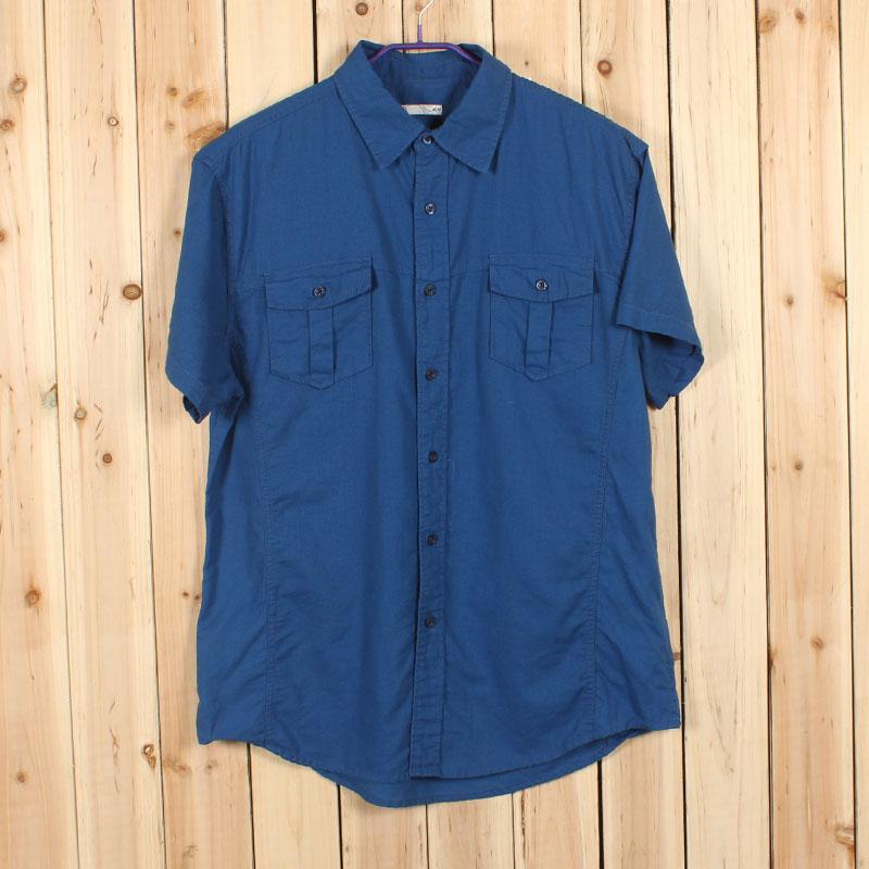 America brand male casual linen shirts men fluid men's clothing summer M L XXL(China (Mainland))