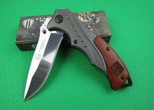 Oem Strider B46 supervivencia cuchillos de bolsillo del cuchillo de caza herramienta de mano de acero y mango de madera del espejo versión mejor que envía libremente