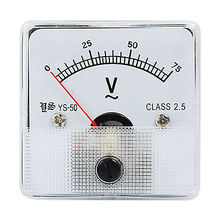 Buy Class 2.5 Accuracy AC 0-75V Analog Panel Voltmeter for $8.22 in AliExpress store