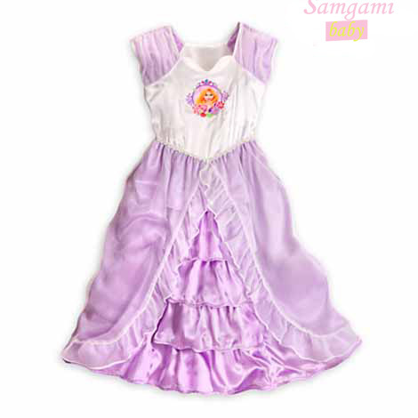 2014 New Fashion Children cartoon snow white dress summer girls casual dress Noble princess purple party dresses girl clothes<br><br>Aliexpress
