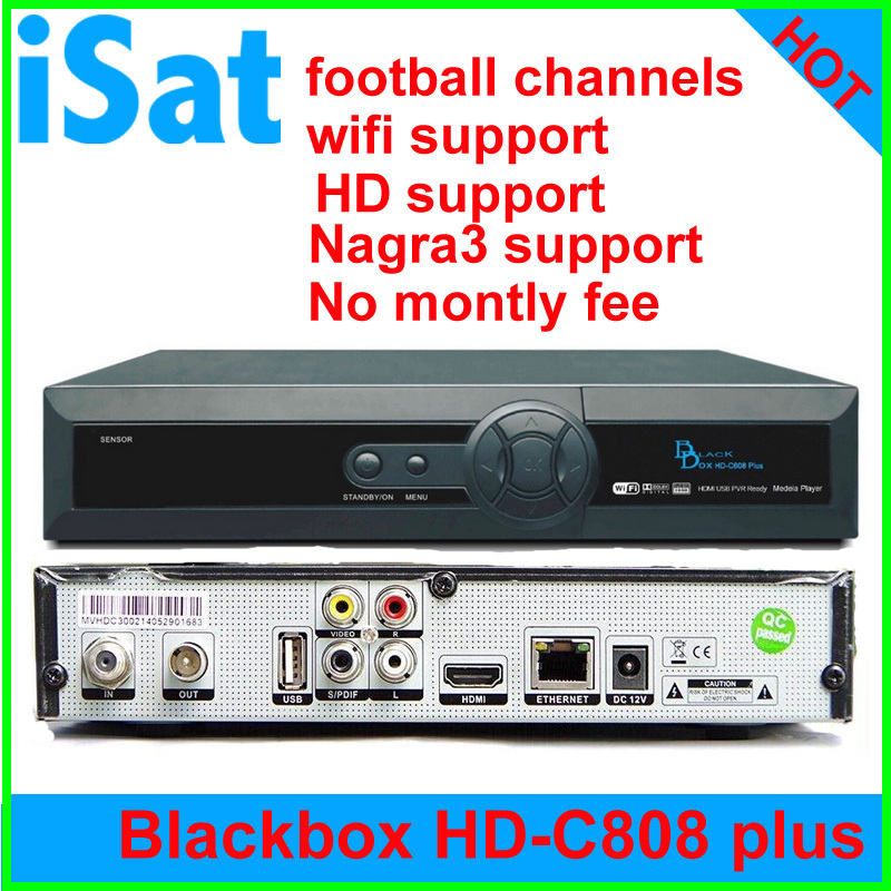 2015 Singapore cable box Blackbox HD-C808 plus star*ub tv box with HD, football channels, N3 upgrade of blackbox c600, c801 hd(China (Mainland))