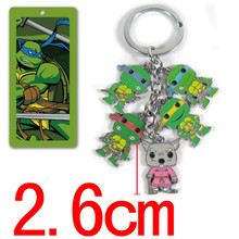 New TMNT Teenage Mutant Ninja Turtles figure toys keychain movie model toys key chains pendant for boys brinquedos kids gift