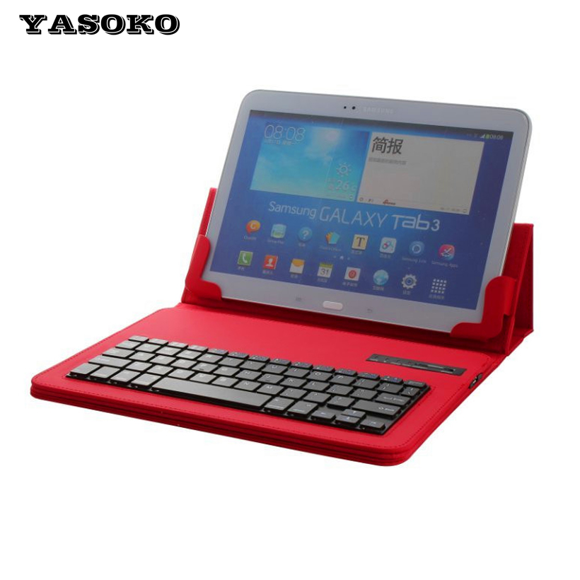 High quality 9-10 inch Tablet Universal PU Leather Case Cover holder + Removable silicon Wireless Bluetooth Keyboard S900(China (Mainland))