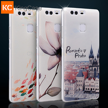Silicon Case For Huawei P9 Phone High Quality 3D Relief Painting Protector Back Cover Case Protective Accessories