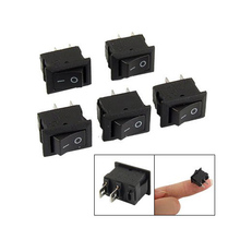 2015 Hot  5 x AC 250V 3A 2 Pin ON/OFF I/O SPST Snap in Mini Boat Rocker Switch