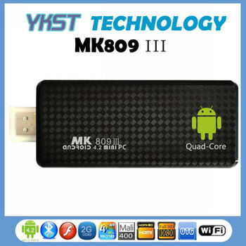 Newest Android Mini PC Stick MK809 III RK3188 Quad core