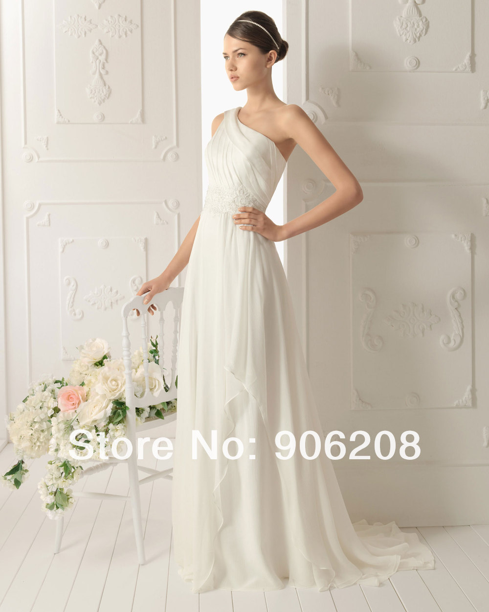 Gorgeous 2015 a line lace up long white ivory satin bridal for White silk wedding dress