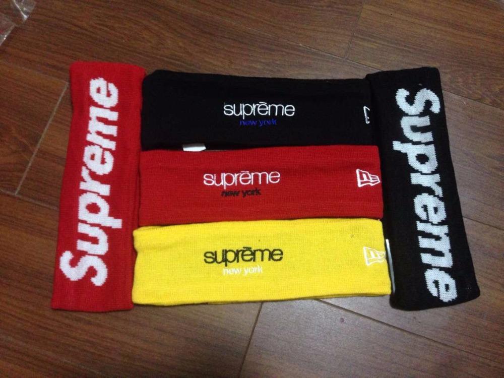 supreme Fashion Sport sweatband basketball sweatband Supreme FLEECE HEADBAND sports Hair band Fashion sweatband(China (Mainland))
