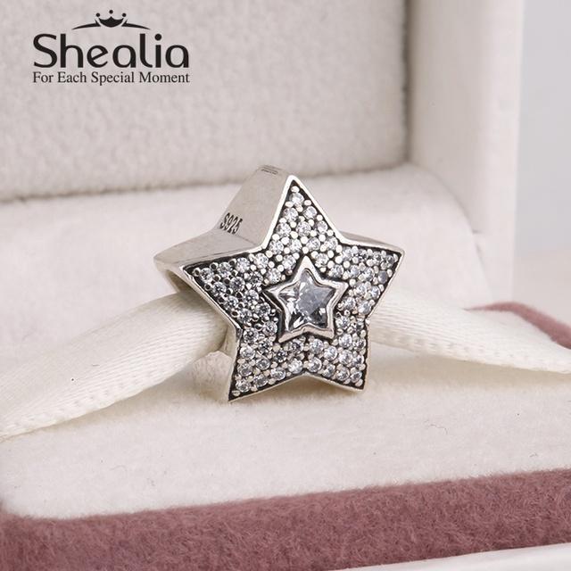 2014 новый стерлингового серебра 925 рождественская звезда прелести проложить циркон рождество прелести для женщин ювелирные изделия подходящую известный бренд очарование